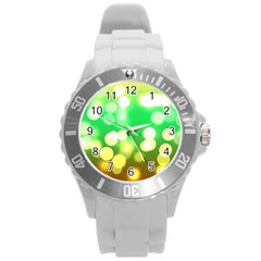 Soft Lights Bokeh 3 Round Plastic Sport Watch (L)