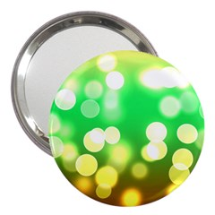 Soft Lights Bokeh 3 3  Handbag Mirrors