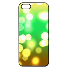 Soft Lights Bokeh 3 Apple iPhone 5 Seamless Case (Black)