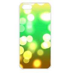 Soft Lights Bokeh 3 Apple iPhone 5 Seamless Case (White)