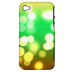Soft Lights Bokeh 3 Apple iPhone 4/4S Hardshell Case (PC+Silicone)