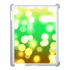 Soft Lights Bokeh 3 Apple iPad 3/4 Case (White)
