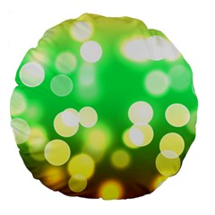 Soft Lights Bokeh 3 Large 18  Premium Round Cushions