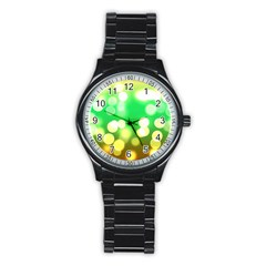 Soft Lights Bokeh 3 Stainless Steel Round Watch