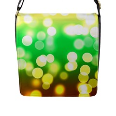 Soft Lights Bokeh 3 Flap Messenger Bag (L)