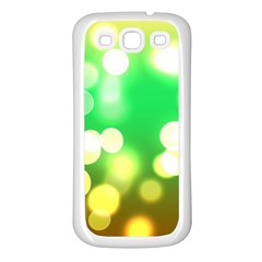 Soft Lights Bokeh 3 Samsung Galaxy S3 Back Case (White)