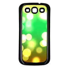 Soft Lights Bokeh 3 Samsung Galaxy S3 Back Case (Black)
