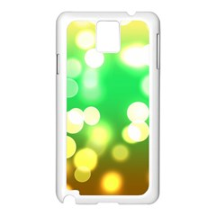Soft Lights Bokeh 3 Samsung Galaxy Note 3 N9005 Case (White)