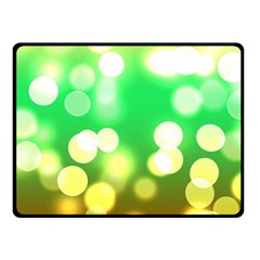 Soft Lights Bokeh 3 Double Sided Fleece Blanket (Small)