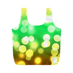 Soft Lights Bokeh 3 Full Print Recycle Bags (M)