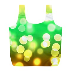Soft Lights Bokeh 3 Full Print Recycle Bags (L)