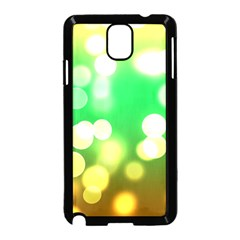 Soft Lights Bokeh 3 Samsung Galaxy Note 3 Neo Hardshell Case (Black)
