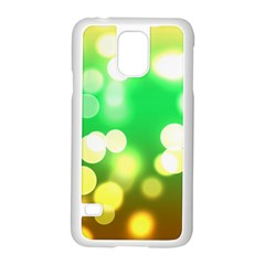 Soft Lights Bokeh 3 Samsung Galaxy S5 Case (White)