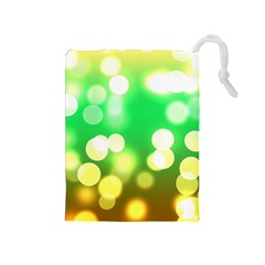 Soft Lights Bokeh 3 Drawstring Pouches (Medium)