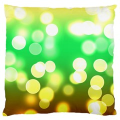 Soft Lights Bokeh 3 Large Flano Cushion Case (One Side)