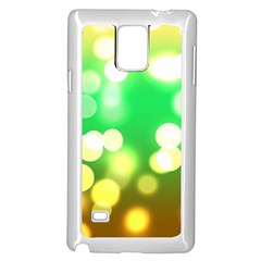 Soft Lights Bokeh 3 Samsung Galaxy Note 4 Case (White)