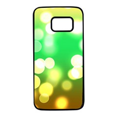 Soft Lights Bokeh 3 Samsung Galaxy S7 Black Seamless Case