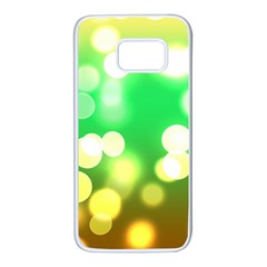 Soft Lights Bokeh 3 Samsung Galaxy S7 White Seamless Case