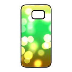 Soft Lights Bokeh 3 Samsung Galaxy S7 edge Black Seamless Case