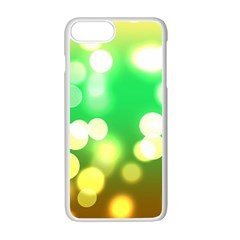 Soft Lights Bokeh 3 Apple iPhone 7 Plus Seamless Case (White)
