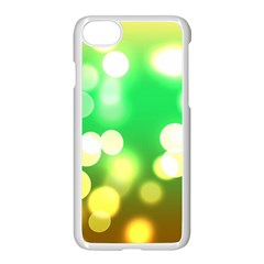 Soft Lights Bokeh 3 Apple iPhone 8 Seamless Case (White)