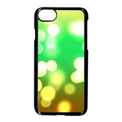 Soft Lights Bokeh 3 Apple iPhone 8 Seamless Case (Black)