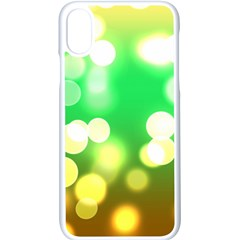 Soft Lights Bokeh 3 Apple iPhone X Seamless Case (White)