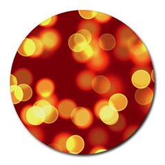 Soft Lights Bokeh 4 Round Mousepads by MoreColorsinLife