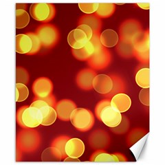 Soft Lights Bokeh 4 Canvas 8  X 10  by MoreColorsinLife