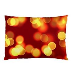 Soft Lights Bokeh 4 Pillow Case by MoreColorsinLife