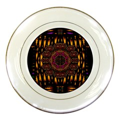 A Flaming Star Is Born On The  Metal Sky Porcelain Plates by pepitasart
