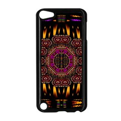 A Flaming Star Is Born On The  Metal Sky Apple Ipod Touch 5 Case (black) by pepitasart