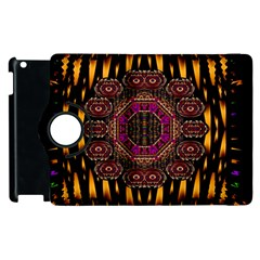 A Flaming Star Is Born On The  Metal Sky Apple Ipad 2 Flip 360 Case by pepitasart