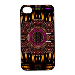 A Flaming Star Is Born On The  Metal Sky Apple Iphone 4/4s Hardshell Case With Stand by pepitasart