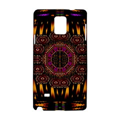 A Flaming Star Is Born On The  Metal Sky Samsung Galaxy Note 4 Hardshell Case by pepitasart