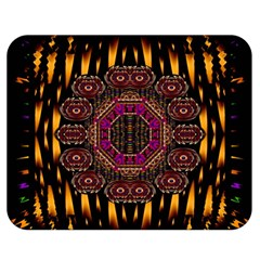 A Flaming Star Is Born On The  Metal Sky Double Sided Flano Blanket (medium)  by pepitasart
