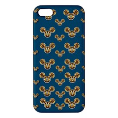 Cartoon Animals In Gold And Silver Gift Decorations Apple Iphone 5 Premium Hardshell Case by pepitasart