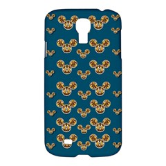 Cartoon Animals In Gold And Silver Gift Decorations Samsung Galaxy S4 I9500/i9505 Hardshell Case by pepitasart