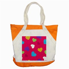 Valentine s Day Pattern Accent Tote Bag by allthingseveryday