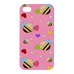 Bee Mine Valentine Apple Iphone 4/4s Premium Hardshell Case by allthingseveryday