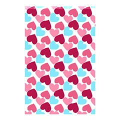 Bold Valentine Heart Shower Curtain 48  X 72  (small)  by allthingseveryday