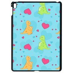 Dinosaur Love Pattern Apple Ipad Pro 9 7   Black Seamless Case