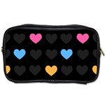 Emo Heart Pattern Toiletries Bags Front