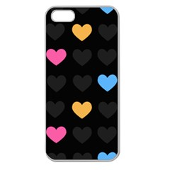 Emo Heart Pattern Apple Seamless Iphone 5 Case (clear) by allthingseveryday