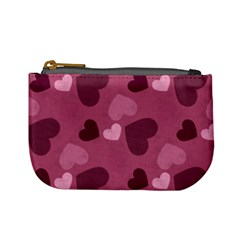 Mauve Valentine Heart Pattern Mini Coin Purses by allthingseveryday