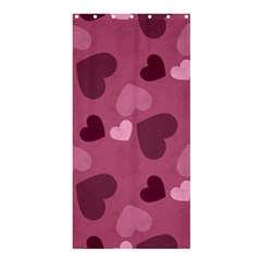 Mauve Valentine Heart Pattern Shower Curtain 36  X 72  (stall)  by allthingseveryday