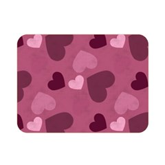 Mauve Valentine Heart Pattern Double Sided Flano Blanket (mini)  by allthingseveryday