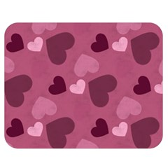 Mauve Valentine Heart Pattern Double Sided Flano Blanket (medium)  by allthingseveryday