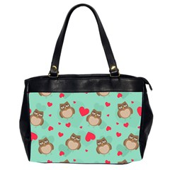 Owl Valentine s Day Pattern Office Handbags (2 Sides)  by allthingseveryday