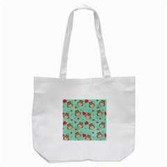 Owl Valentine s Day Pattern Tote Bag (white) by allthingseveryday